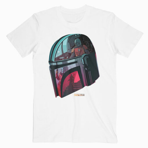 Star Wars The Mandalorian Helmet Scene Fill T Shirt