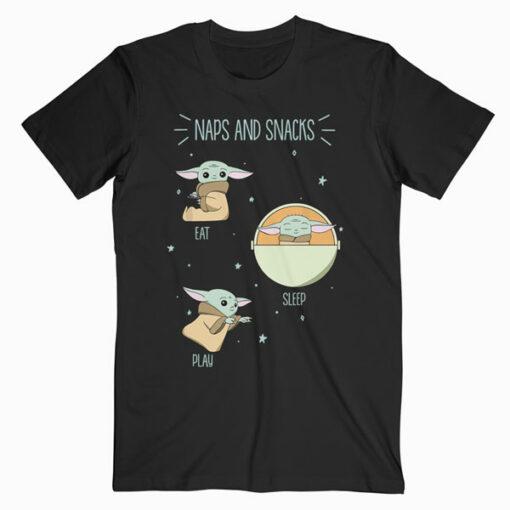 Star Wars The Mandalorian The Child Naps And Snacks Doodles Camiseta T Shirt