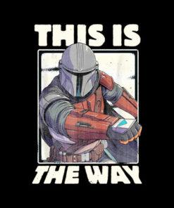 Star Wars The Mandalorian This Is The Way Retrato Camiseta T Shirt
