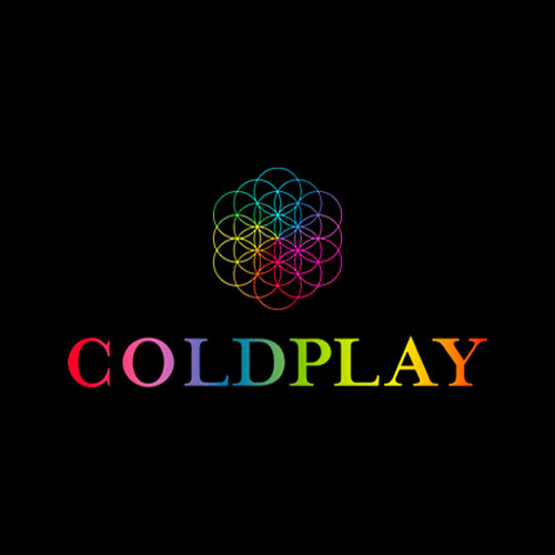 Coldplay Rainbow Logo Head Full Of Dreams Black T Shirt