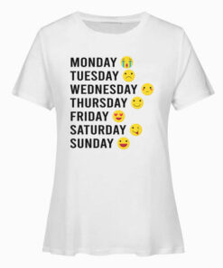 Day Characters Emoticon Funny T Shirt