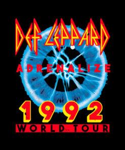 Def Leppard Adrenalize 92 World Tour Rock Band Let's Get Rocked Band T Shirt