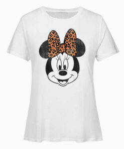 Disney Mickey And Friends Minnie Mouse Leopard Print T-Shirt