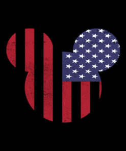 Disney Mickey Mouse Americana Ears shape T-shirt