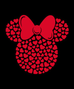 Disney Minnie Mouse Icon Filled with Hearts T Shirt
