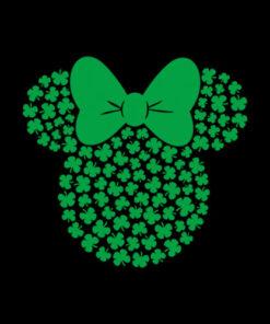 Disney Minnie Mouse Icon Green Shamrocks St Patricks Day T-Shirt