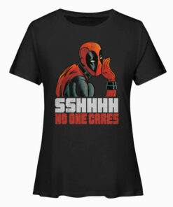 Marvel Deadpool SSHHHH No One Cares Whisper Graphic T-Shirts
