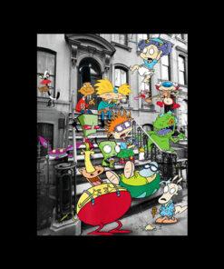 Nickelodeon Classic Nicktoons Hanging On Stoop T-Shirt