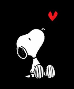 Peanuts Heart Sitting Snoopy T Shirts