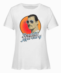 Queen Freddie Mercury Aviator Sunglasses Band T-shirt