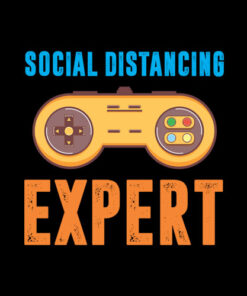 Social Distancing Expert Gaming Video Gamer Boys Men Gift T-Shirt