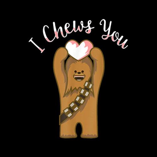 Star Wars I Chews You Chewbacca Valentine Soccer Jersey T Shirt