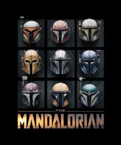 Star Wars The Mandalorian Helmet Box Up T Shirt