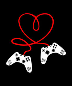Video Gamer Valentines Day T-Shirt With Controllers Heart T Shirt