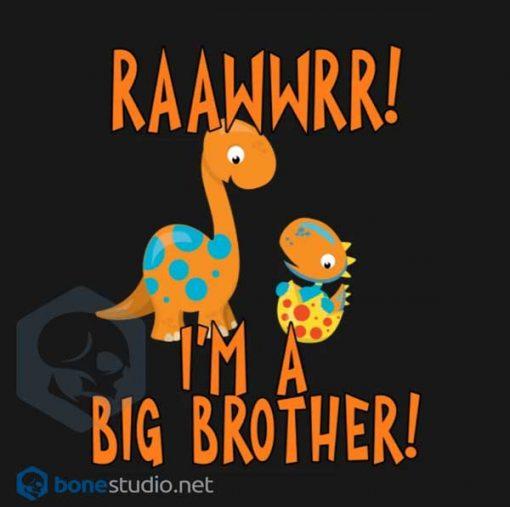 Big Brother Dinosaur Onesie RAAWWRR Baby Onesie