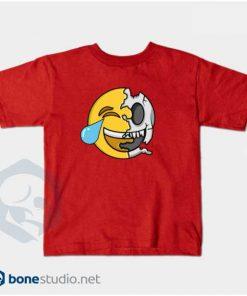 Emoji T-Shirt Kids Cute Emoji Skeleton Kids RED T-Shirt