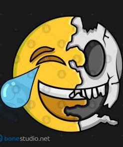 Emoji T-Shirt Kids Cute Emoji Skeleton Kids T-Shirt