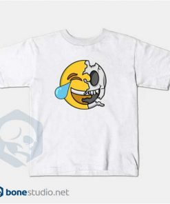 Emoji T-Shirt Kids Cute Emoji Skeleton Kids White T-Shirt