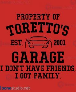 Fast and Furious Toretto Garage Baby Onesie
