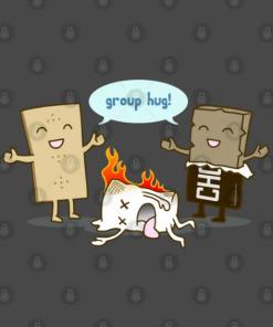 Funny - S'mores Group Hug! T-Shirt Design
