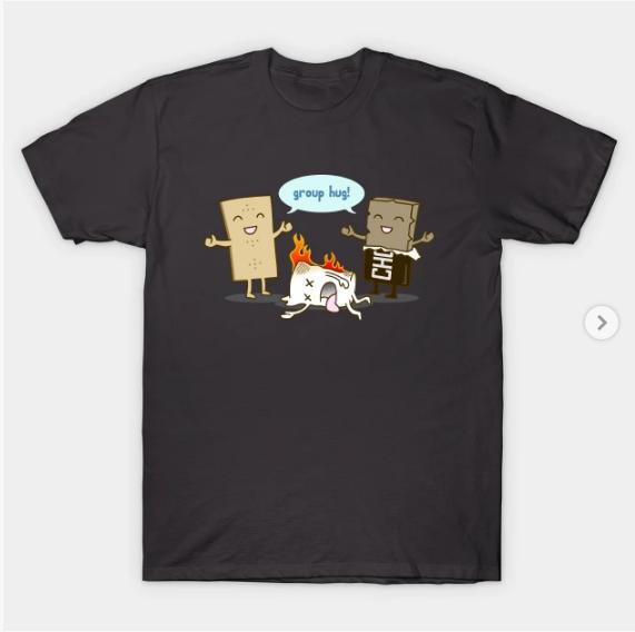 Funny Smores Group Hug T Shirt