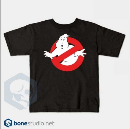 Ghostbusters T Shirt Kids Logo Black