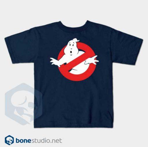 Ghostbusters T Shirt Kids Logo navy