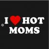 I Love Hot Moms T-Shirt Design