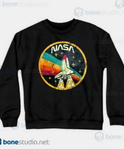 NASA USA Space Agency V03 Sweatshirt Black