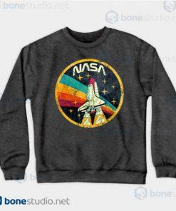NASA USA Space Agency V03 Charcoal Heather Sweatshirt