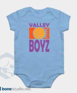 Phoenix Suns Baby Onesie Boys Retro Baby Blue