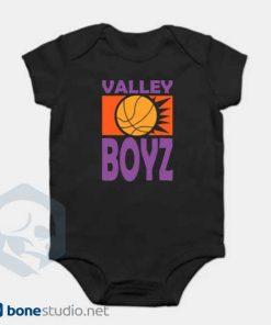 Phoenix Suns Baby Onesie Boys Retro Black