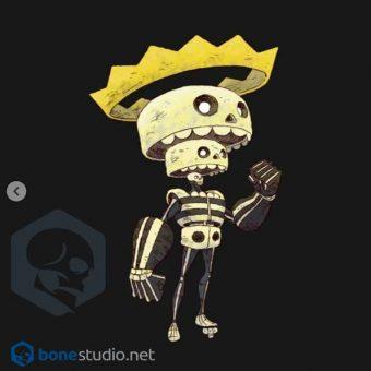 Skeleton Onesie King Skeleton Baby Onesie