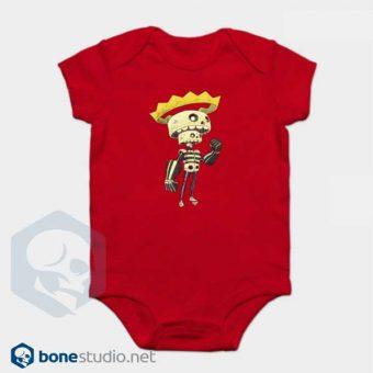 Skeleton Onesie King Skeleton Baby Onesie Red