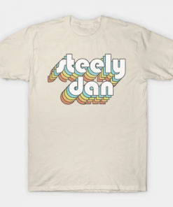 Steely Dan Retro Faded-Style Typography Design T-Shirt