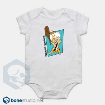 The Flintstones Onesie Bamm Bamm Cute White Baby Onesie