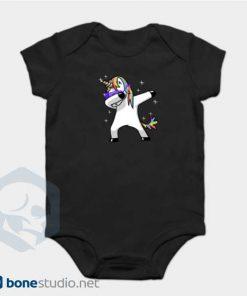 Unicorn Onesie Dabbing Unicorn Baby Onesie Black Color