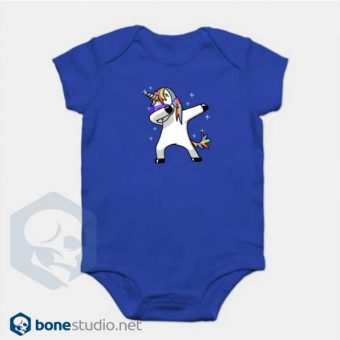 Unicorn Onesie Dabbing Unicorn Baby Onesie Blue
