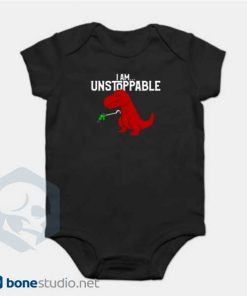 Unstoppable T-Rex Dinosaur Onesie Black