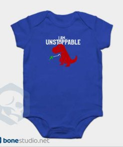 Unstoppable T-Rex Dinosaur Onesie Blue