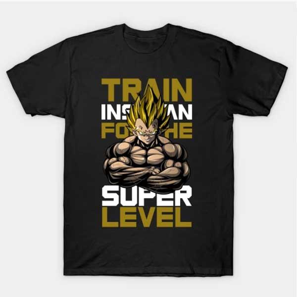 Vegeta Workout Shirts Train For Super Level