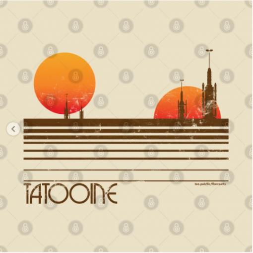 Visit Tatooine T-Shirt Design