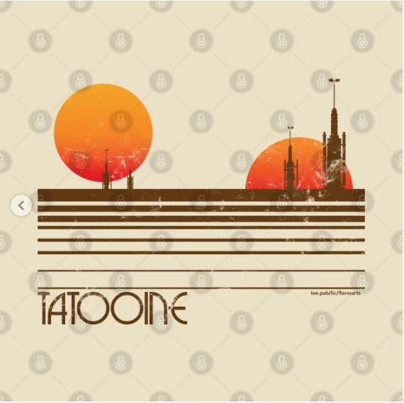 Visit Tatooine T Shirt Design