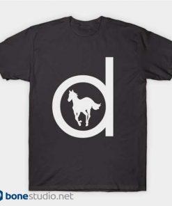Deftones T Shirt White Pony Dark Grey