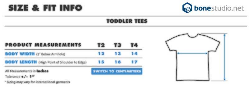 kids t shirts size chart bonestudio