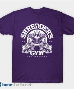 purple shredder's gym shirt
