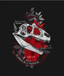 Allosaurus fragilis T-Shirt black design