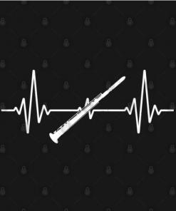Clarinet Heartbeat Musicians black design
