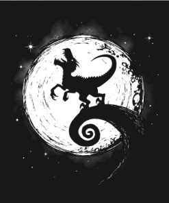 Dinosaur Gothic T-Shirt black design