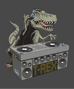 Dj Rex T-Shirt black design